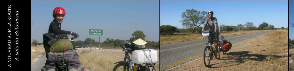 A velo au Botswana